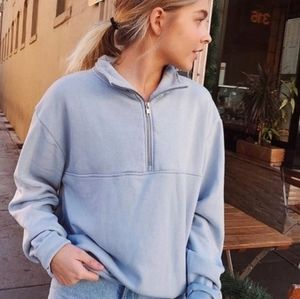Brandy Melville Blue Quarter Zip Sweatshirt